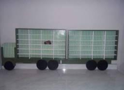Título do anúncio: Carreta MDF porta carrinhos hot Wheels