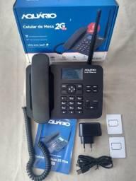 Telefone Rural/Celular de Mesa 2G -Aquário -