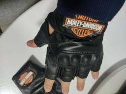 Luva de Couro Harley Davidson
