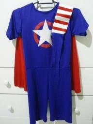 Título do anúncio: Fantasia Infantil do Capitão America