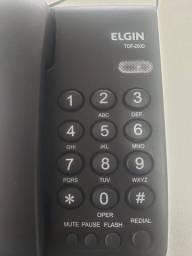 Título do anúncio: Telefone com Fio Elgin TCF 2000 Preto com Chave de Bloqueio semi-novo
