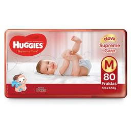 FRALDA HUGGIES SUPREME CARE M 80 FRALDAS
