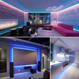 Fita Led Decoração Neon Moderna Ambiente com Controle Rgb 5 Metros