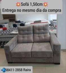 Título do anúncio: Sofá 2 lugares retrátil com Carregador USB NOVO DE FÁBRICA