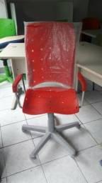 Cadeira Vermelha para escritório - direto de fábrica