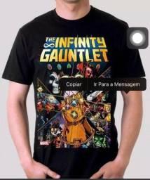 Camiseta Thanos Vingadores Guerra Infinita Hq GG Preta