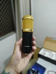 BM-800 Microfone Condensador + Pop Filter + Brinde (cabo adicional)