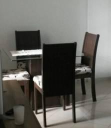 Mesa tampo de vidro