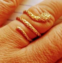 Anel cobra em ouro 18 Kilates 6 gramas