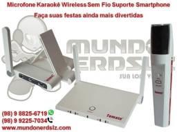 Microfone Karaokê Wireless Sem Fio Suporte Smartphone Tomate Mt-2206 em São Luís MA