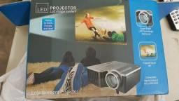 Mini Projetor Portatil LED 100pol Usb/Sd/HDM - Projetor de LED