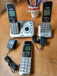 Telefone sem fio vtech importado com secretária eletrônica digital