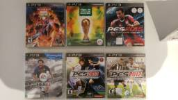 """Combo 6 jogos """"esporte"""" PS3 usado midia físca"""
