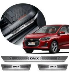 Soleira Porta Aço Inox Para todos os carros com grafia específica