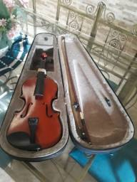 Violino Vogga Von134 C/ Case Breu e Cavalete novos