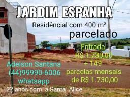 Terreno Jardim Espanha parcelado