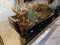 Bandeja espelhada bronze 30 x 50