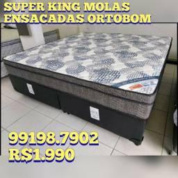 Título do anúncio: Cama Super King +2 travesseiros de brinde