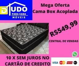 Título do anúncio: Mega Feirão de Cama Box Acoplada Compre Hoje Tudo Até 10 X Sem Juros No Cartão de Credito