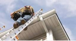 Calhas e reparos em telhados