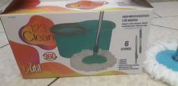MOP Clean giratório 360graus com balde