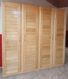 Título do anúncio: Guarda-roupa 4 portas de madeira novo