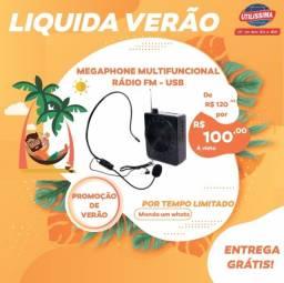 Título do anúncio: Megaphone Multifunções K150/ Rádio Fm / USB Player