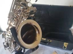 Título do anúncio: Saxofone Alto Hoyden Has-25n Excelente Estado De Conservação