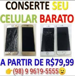 R$79,99 Consertem BARATO seu telefone na Promoção Novo de Novo Aqui!