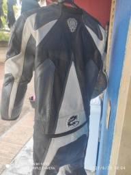 Macacão de Couro Completo, Para Motociclista, Arlen Ness, 2 partes
