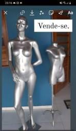 Título do anúncio: Manequins prateados