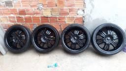 Título do anúncio: Roda 20 com pneus novos