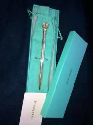 Caneta de prata 925 tiffany & co modelo caduceus clip ballpoint pen