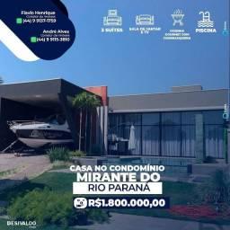 Casa Linda a Venda no Condomínio Mirante do Rio Paraná