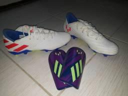 Adidas Nemeziz Messi Campo Usada 2x × Caneleira Messi