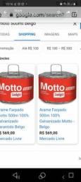 Arame farpado Motto 500 metros o preço  e R$ 350,00 não tem como vender por menos.