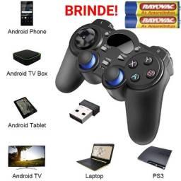 Título do anúncio: Joystick Controle sem fio para Windows Android e PS3 NOVO