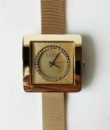 Relógio Astúria 1 Ano Garantia Banho Ouro IPG