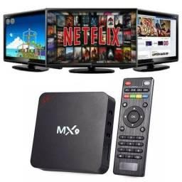 Transforme Sua Tv Em Smart TV Box MX9 4k Android 7.1,Youtube, Netflix etc.(Fazemos Entrega