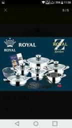 Conjunto de Panelas Alemã Gran Royal Aço Cirúrgico 23 pçs