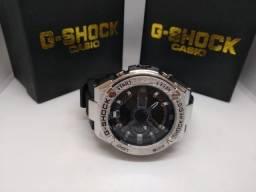 6a6c90deed7 Relógio G Shock Metal prata com fundo escuro (aceito cartão)