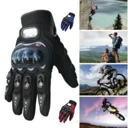 (Promoção)Luvas Para Motociclista e Ciclista com Proteção e Velcro