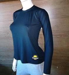 Camisas uv fator 50+ feminina