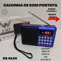 Caixinha de som Bluetooth retrô - Loja PW STORE