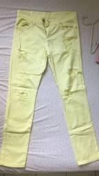 Calça jeans Amarela Destroyed