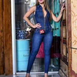 Macacão, shorts, calça e vestidos jeans feminino