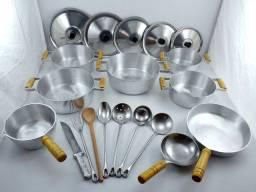 Kit 15 peças em alumínio batido