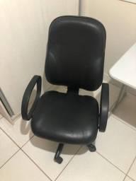 Título do anúncio: cadeira giratoria presidente - em couro ecologico