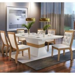 Título do anúncio: Sala de Jantar 6 cadeiras Ágata  - Entrega Grátis p/ Fortaleza