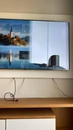 Título do anúncio: SmartTV led LG 65? UK - Tela com um lado quebrado